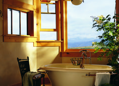 Stunning custom windows give you a breathtaking view.