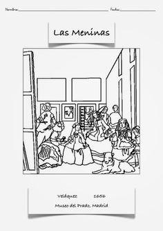 Pintores famosos: Velázquez para niños. Obras para colorear. Cómo trabajar las Meninas. Vídeos que analizan algunos cuadros... Spanish Art, Spanish Culture, School Art Projects, Art School, Spanish Classroom Activities, Teaching Culture, Hispanic Art, Spanish Painters, Museum Of Fine Arts