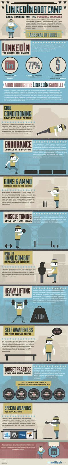 LinkedIn Boot Camp: Time to Tone Up Your Job Search #Infographic