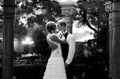 #wedding  #wedding dress #lace #backless #black and white #wedding photos #backlessdress #romance #love #fashion #the wright house #gazebo #wedding #kristen jean photography #wedding photography #wedding pictures