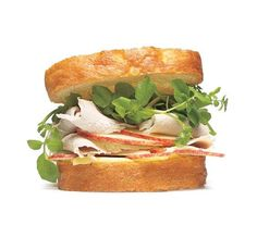 Turkey Sandwich With Watercress and Apple   Transform your Thanksgiving leftovers with these inventive roast turkey sandwich ideas.