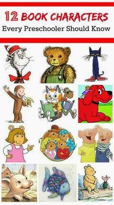12 Book Characters for Preschool Children |Planet Smarty Pants