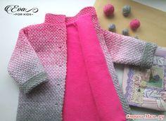 Пальто и кардиган для девочек. Градиент крючком