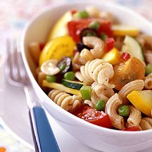Pot Luck Pasta Salad  pack in small containers to grab for a quick lunch... Weight Watchers