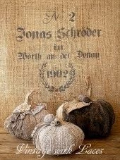 Recycled Fabric Pumpkins