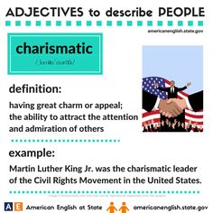 Adjectives to describe people: charismatic