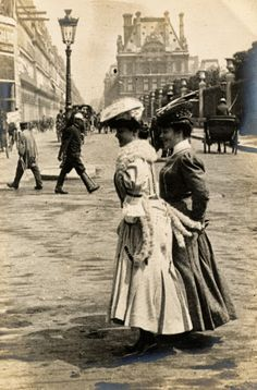 Belle Epoque/Paris ~ Similar fashion and scene in the Gilded Age, NYC.