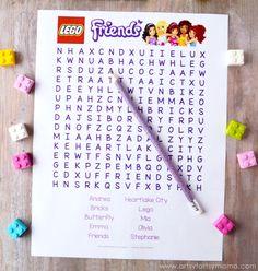 Free Printable LEGO Friends Word Search at artsyfartsymama.com