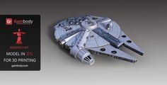 Huge Millennium Falcon printer ready model! #inspiration #starwars #games