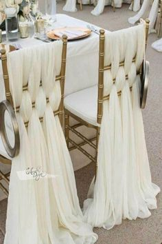 Braided Blush Pink Chiffon Chair Sash for the bride and groom seating Wedding Chair Sashes, Wedding Chair Decorations, Wedding Table, Wedding Cakes, Chivari Chairs Wedding, Gold Chivari Chairs, Wedding Ideas, Wedding Braids, Festival Wedding