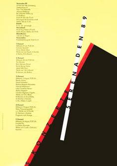 Odermatt, Siegfried poster: Serenaden 89