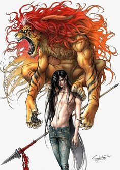 Ushio & Tora ~This Piece Is Awesome~ Ushio To Tora, Manga Anime, Anime Art, Character Art, Character Design, Super Anime, Dark Anime Guys, Demon Art, Handsome Anime Guys