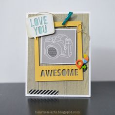 A Project by josieteh from our Cardmaking Gallery originally submitted at AM Pretty Cards, Cute Cards, Card Making Inspiration, Making Ideas, Camera Cards, Boy Cards, Candy Cards, Scrapbook Cards, Scrapbooking