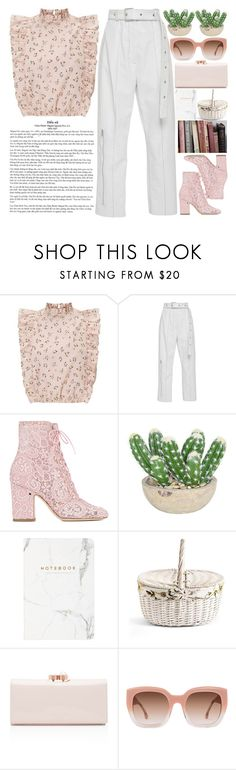 """""""It's so strange to put something off for tomorrow. Like today it's tomorrow of yesterday, right?!"""" by holly-k15 ❤ liked on Polyvore featuring Laurence Dacade, The French Bee, Børn, Ted Baker and Alice + Olivia"""