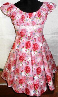 Sommerkleid Gr. 134/140  Schnittmuster Elodie von Farbenmix