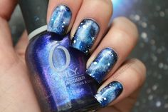 Coewless Polish: Galaxy Nail Art