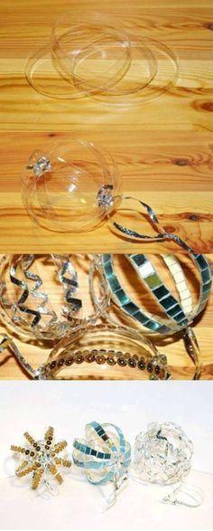 Boules décoratives avec des rondelles de plastique