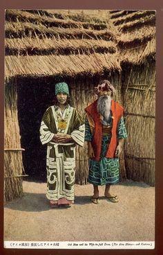 Japan AINU in traditional dress/ C 1930'S