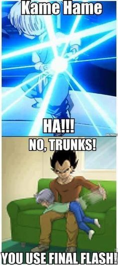 Funny Vegeta and trunks meme
