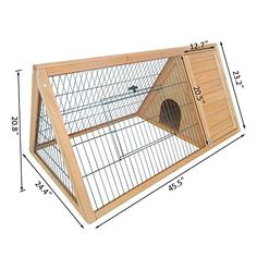 Pawhut Outdoor Triangular Wooden Bunny Rabbit Hutch / Guinea Pig House w/ Run: Chicken Coop Rabbit Hutch Plans, Outdoor Rabbit Hutch, Rabbit Hutches, Rabbit Cages Outdoor, Small Rabbit, Pet Rabbit, Rabbit Cage Diy, Rabbit Pen, Guinea Pig House