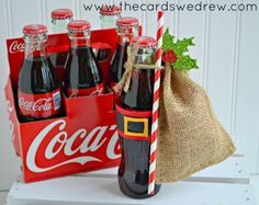 Santa Belt Coke Bottles Gift Idea