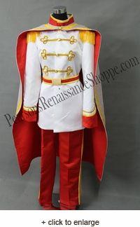 Cinderella Prince Charming Cosplay Costume Set Disfraces Princesas Disney 55ebe60304ad