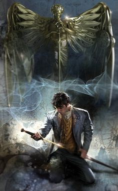 Will Herondale and a sword...... I'm not as stoked about this cover... but they definitely chose a great William Herondale.
