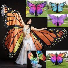 Kinder Tanz tragen Damen Schmetterling bauchtanz kostüm 360 ° flügel ägyptischen | eBay