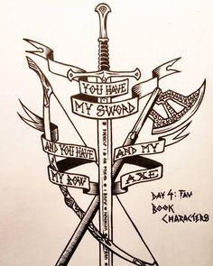 Chronic Ink tattoo Alex Rodway Illustrative Tattoo Lord of the rings you have my sword - SKETCHES. Hobbit Tattoo, Tolkien Tattoo, Lotr Tattoo, Zelda Tattoo, Sword Tattoo, I Tattoo, Lord Of The Rings Tattoo, Lord Rings, Fantasy Tattoos