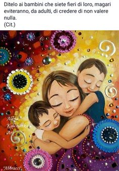 Mother and children wall art, gift for mom of two, Alena Kalchanka Art Mother And Child Painting, Painting For Kids, Children Painting, Art Children, Perfect Gift For Mom, Gifts For Mom, Art Wall Kids, Art For Kids, Wall Art