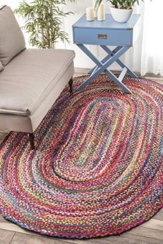 Casual Handmade Braided Cotton Multi Oval Area Rugs, 8 Feet by 11 Feet Ovaled (8' x 11' Oval) Rugs USA http://www.amazon.com/dp/B018GTK1QO/ref=cm_sw_r_pi_dp_B-rOwb1J6GXDV