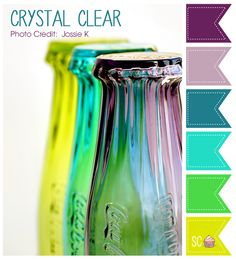 Crystal Clear Color Palette - Inspire Sweetness  http://www.inspiresweetness.blogspot.com/2013/12/crystal-clear-color-palette.html