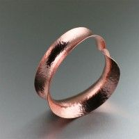 Wrap your wrist in modern elegance when you don this beautiful Hammered Copper Bangle. This bold copper cuff bracelet showcases a tapered anticlastic silhouette with a chic backdrop of hand-hammered detailing. Copper Cuff, Hammered Copper, Copper Jewelry, Copper Metal, Copper Gifts, Handmade Copper, Handmade Jewelry, Jewelry Crafts, Copper Anniversary Gifts