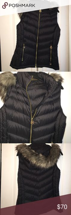 Michael Kors Ladies removable hoodie black vest MK Vest Medium Michael Kors Jackets & Coats Vests