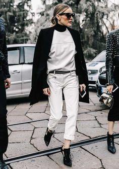 Подвернутые брюки - стиль Оливия Палермо
