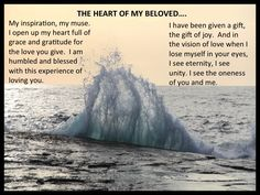 The heart of my beloved!