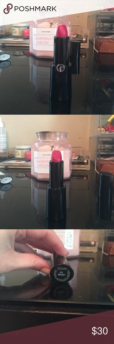 NWOT Giorgio Armani Maharajah Lipstick 513 Giorgio Armani  never worn/used lipstick in a hot pink...color maharajah no. 513 ...AS SEEN ON CHRISSY TEIGEN ...threw out the box :( sorry but never touched none the less Giorgio Armani Makeup Lipstick