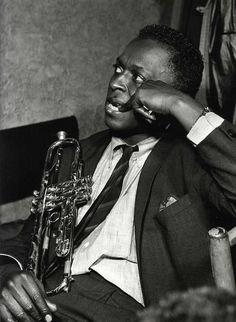 Miles Davis, 1958. Photo by Serge Jacques
