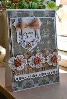 card banners ribbon flower fabric and paper border Gitte Blomsterbox: Kort *For you*