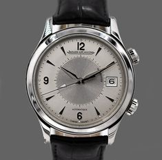 Jaeger-LeCoultre Master Memovox Mens Watches Uk, Glass Material, Stainless Steel, Crystals, Accessories, Glass Supplies, Crystal, Crystals Minerals, Jewelry Accessories