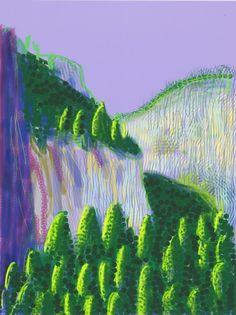 David Hockney, Untitled #11 from The Yosemite Suite - 2010 on ArtStack #david-hockney #art