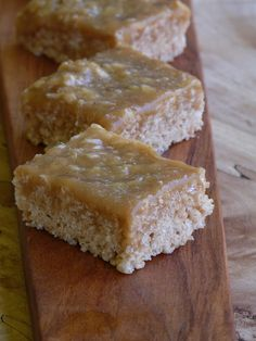 Decadent Caramel Rice Krispies Squares ~ Just looking at this picture makes my mouth water. I've made this recipe many times - Nancy