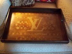 Louis Vuitton LV logo tray Replica  | elizabethfordreplicatrays - Housewares on ArtFire