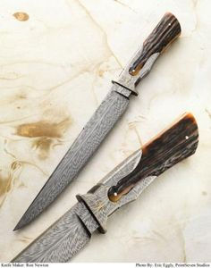 "This knife by American Bladesmith Society Master Smith Ron Newton was awarded the 2012 Blade Show Award ""Best Handle Design"" at the June 2012 Blade Show in Atlanta.--- Pretty darn awesome Knife design also..."