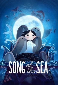 Animation Song of the Sea Animated Movie Poster - A great poster from the beautifully animated movie Song of the Sea by Tomm Moore (creator of the award-winning film The Secret of Kells. Need Poster Mounts. The Sea Movie, Song Of The Sea, Das Geheimnis Von Kells, Movies To Watch, Good Movies, Movies Free, Free Films, Tv Watch, Children's Book Illustration