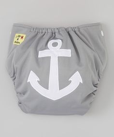 Gray Anchor Pocket Diaper. Not so sure about wanting to use reusable/cloth diapers but if I do decide to go this route (instead of disposable diapers) then I want this one! This might also be cute as an alternative to shorts on a hot summer day (just over a disposable diaper instead.)