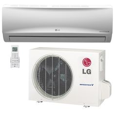 9000 BTU LG 17 SEER Mega Wall-Mounted Value Line Ductless Mini-Split Inverter Air Conditioner 115V Heat Pump System