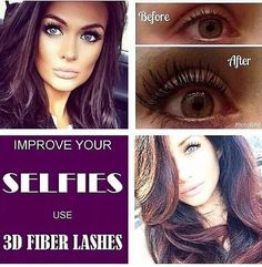Love your selfies!! 3d mascara helps improve those lashes so much- you will love those selfies!! Link in bio....  #selfies, #3D fiber mascara, #long lashes