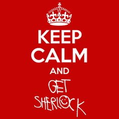 Keep Calm and Get Sherlock T-Shirt Sher Locked. I NEED THIS!