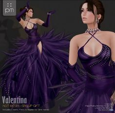 Valentina Purple Gown Group Gift by PurpleMoon